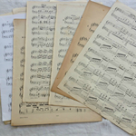 Vintage Sheet Music 10 sheets per pack